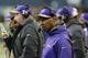 Nov 17, 2013; Seattle, WA, USA; Minnesota Vikings head coach Leslie Frazier during the second half against the Seattle Seahawks at CenturyLink Field. Seattle defeated Minnesota 41-20. Mandatory Credit: Steven Bisig-USA TODAY Sports