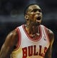 Nov 18, 2013; Chicago, IL, USA;Chicago Bulls small forward Luol Deng (9) yells against the Charlotte Bobcats during the second half of their game at the United Center. The Bulls won 86-81. Mandatory Credit: Matt Marton-USA TODAY Sports