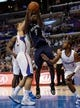 Nov 18, 2013; Los Angeles, CA, USA; Memphis Grizzlies shooting guard Tony Allen (9) drives to the basket between the Los Angeles Clippers forward Blake Griffin (left) and point guard Chris Paul (3) at Staples Center. Mandatory Credit: Robert Hanashiro-USA TODAY Sports