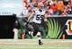Nov 17, 2013; Cincinnati, OH, USA; Cleveland Browns outside linebacker Tank Carder (59) during the game against the Cincinnati Bengals at Paul Brown Stadium. Cincinnati won 41-20.  Mandatory Credit: Kevin Jairaj-USA TODAY Sports