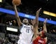 Nov 20, 2013; Minneapolis, MN, USA; Minnesota Timberwolves forward Corey Brewer (13) shoots over Los Angeles Clippers forward Jared Dudley (9) during the third quarter at Target Center. The Clippers defeated the Timberwolves 102-98. Mandatory Credit: Brace Hemmelgarn-USA TODAY Sports