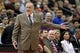 Nov 20, 2013; Minneapolis, MN, USA; Minnesota Timberwolves head coach Rick Adelman argues a call during the first quarter against the Los Angeles Clippers at Target Center. The Clippers defeated the Timberwolves 102-98. Mandatory Credit: Brace Hemmelgarn-USA TODAY Sports