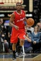 Nov 20, 2013; Minneapolis, MN, USA; Los Angeles Clippers guard Chris Paul (3) dribbles during the first quarter against the Minnesota Timberwolves at Target Center. The Clippers defeated the Timberwolves 102-98. Mandatory Credit: Brace Hemmelgarn-USA TODAY Sports