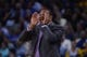 November 20, 2013; Oakland, CA, USA; Golden State Warriors head coach Mark Jackson instructs against the Memphis Grizzlies during the fourth quarter at Oracle Arena. The Grizzlies defeated the Warriors 88-81 in overtime. Mandatory Credit: Kyle Terada-USA TODAY Sports