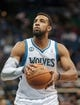 Nov 13, 2013; Minneapolis, MN, USA; Minnesota Timberwolves power forward Derrick Williams (7) shoots in the fourth quarter against the Cleveland Cavaliers at Target Center. The Minnesota Timberwolves win 124-95. Mandatory Credit: Brad Rempel-USA TODAY Sports.