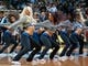 Nov 1, 2013; Minneapolis, MN, USA; Minnesota Timberwolves dancers entertain fans during the second quarter against the Oklahoma City Thunder at Target Center. Timberwolves won 100-81. Mandatory Credit: Greg Smith-USA TODAY Sports