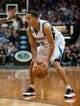 Nov 1, 2013; Minneapolis, MN, USA; Minnesota Timberwolves shooting guard Kevin Martin (23) looks to drive against the Oklahoma City Thunder during the second quarter at Target Center. Timberwolves won 100-81. Mandatory Credit: Greg Smith-USA TODAY Sports