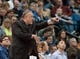 Nov 1, 2013; Minneapolis, MN, USA; Minnesota Timberwolves head coach Rick Adelman calls a play against the Oklahoma City Thunder in the second quarter at Target Center. Timberwolves won 100-81. Mandatory Credit: Greg Smith-USA TODAY Sports