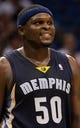Oct 18, 2013; Orlando, FL, USA; Memphis Grizzlies power forward Zach Randolph (50) against the Orlando Magic during the first half at Amway Center. Mandatory Credit: Kim Klement-USA TODAY Sports