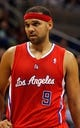 Nov 6, 2013; Orlando, FL, USA; Los Angeles Clippers small forward Jared Dudley (9) against the Orlando Magic during the second half at Amway Center. Orlando Magic defeated the Los Angeles Clippers 98-90. Mandatory Credit: Kim Klement-USA TODAY Sports