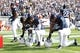 Nov 2, 2013; University Park, PA, USA; Penn State Nittany Lions players kneel in the end zone prior to the game against the Illinois Fighting Illini at Beaver Stadium. Penn State defeated Illinois 24-17. Mandatory Credit: Matthew O'Haren-USA TODAY Sports