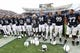Nov 2, 2013; University Park, PA, USA; Penn State Nittany Lions players sing the alma mater following the completion of the game against the Illinois Fighting Illini at Beaver Stadium. Penn State defeated Illinois 24-17. Mandatory Credit: Matthew O'Haren-USA TODAY Sports