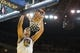 Oct 30, 2013; Oakland, CA, USA; Golden State Warriors center Andrew Bogut (12) dunks the ball against the Los Angeles Lakers during the third quarter at Oracle Arena. The Golden State Warriors defeated the Los Angeles Lakers 125-94. Mandatory Credit: Kelley L Cox-USA TODAY Sports