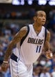 Oct 30, 2013; Dallas, TX, USA; Dallas Mavericks shooting guard Monta Ellis (11) during the game against the Atlanta Hawks at American Airlines Center. The Mavericks defeated the Hawks 118-109. Mandatory Credit: Jerome Miron-USA TODAY Sports
