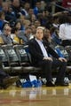 Oct 30, 2013; Oakland, CA, USA; Golden State Warriors majority owner Joe Lacob on the sideline against the Los Angeles Lakers during the third quarter at Oracle Arena. The Golden State Warriors defeated the Los Angeles Lakers 125-94. Mandatory Credit: Kelley L Cox-USA TODAY Sports