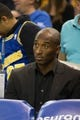 Oct 30, 2013; Oakland, CA, USA; Los Angeles Lakers shooting guard Kobe Bryant (24) behind the bench against the Golden State Warriors during the third quarter at Oracle Arena. The Golden State Warriors defeated the Los Angeles Lakers 125-94. Mandatory Credit: Kelley L Cox-USA TODAY Sports