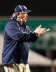 Nov 21, 2013; Birmingham, AL, USA;  Rice Owls Head Coach David Bailiff  during the game against the UAB Blazers at Legion Field. The Owls defeated the Blazers 37-34 in overtime. Mandatory Credit: Marvin Gentry-USA TODAY Sports