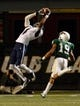 Nov 21, 2013; Birmingham, AL, USA;  Rice Owls wide receiver Dennis Parks (4) catches a pass as UAB Blazers cornerback Devon Brown (19) defends at Legion Field. The Owls defeated the Blazers 37-34 in overtime. Mandatory Credit: Marvin Gentry-USA TODAY Sports