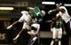 Nov 21, 2013; Birmingham, AL, USA; UAB Blazers wide receiver Jamarcus Nelson (1) is hit by Rice Owls defensive back Jaylon Finner (25) after catching a pass  at Legion Field. The Owls defeated the Blazers 37-34 in overtime. Mandatory Credit: Marvin Gentry-USA TODAY Sports