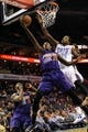 Nov 22, 2013; Charlotte, NC, USA; Phoenix Suns guard Archie Goodwin (20) drives to the basket as he is defended by Charlotte Bobcats forward Michael Kidd-Gilchrist (14) during the first half in the game at Time Warner Cable Arena. Mandatory Credit: Sam Sharpe-USA TODAY Sports