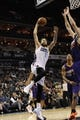 Nov 22, 2013; Charlotte, NC, USA; Charlotte Bobcats forward Josh McRoberts (11) drives to the basket during the second half of the game against the Phoenix Suns at Time Warner Cable Arena. Suns win 98-91. Mandatory Credit: Sam Sharpe-USA TODAY Sports