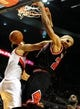 Nov 22, 2013; Portland, OR, USA; Chicago Bulls power forward Taj Gibson (22) dunks the ball on Portland Trail Blazers center Joel Freeland (19) during the first quarter of the game at the Moda Center. Mandatory Credit: Steve Dykes-USA TODAY Sports