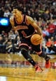 Nov 22, 2013; Portland, OR, USA; Chicago Bulls point guard Derrick Rose (1) drives to the basket during the third quarter of the game against the Portland Trail Blazers at the Moda Center. The Blazers won the game 98-95. Mandatory Credit: Steve Dykes-USA TODAY Sports