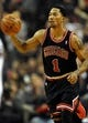Nov 22, 2013; Portland, OR, USA; Chicago Bulls point guard Derrick Rose (1) brings the ball up the court during the third quarter of the game against the Portland Trail Blazers at the Moda Center. The Blazers won the game 98-95. Mandatory Credit: Steve Dykes-USA TODAY Sports