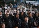 Nov 22, 2013; San Jose, CA, USA; The Navy Midshipmen band celebrates after Navy scored against the San Jose State Spartans during the third quarter at Spartan Stadium.  Navy won 58-52 in triple overtime. Mandatory Credit: Ed Szczepanski-USA TODAY Sports