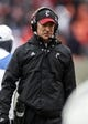 Nov 23, 2013; Houston, TX, USA; Cincinnati Bearcats head coach Tommy Tuberville walks on the sideline during the second quarter against the Houston Cougars at BBVA Compass Stadium. Mandatory Credit: Troy Taormina-USA TODAY Sports