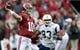 Nov 23, 2013; Tuscaloosa, AL, USA;  Alabama Crimson Tide quarterback A.J. McCarron (10) passes against the Chattanooga Mocs during the first quarter at Bryant-Denny Stadium. Mandatory Credit: John David Mercer-USA TODAY Sports