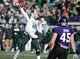 Nov 23, 2013; Evanston, IL, USA; Michigan State Spartans quarterback Connor Cook (18) throws a pass during the second half against the Northwestern Wildcats at Ryan Field. Michigan State won 30-6. Mandatory Credit: Reid Compton-USA TODAY Sports