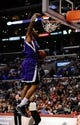 Nov 23, 2013; Los Angeles, CA, USA; Sacramento Kings guard Ben McLemore (16) dunks the ball against the Los Angeles Clippers during the first quarter at Staples Center. Mandatory Credit: Kelvin Kuo-USA TODAY Sports