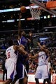Nov 23, 2013; Los Angeles, CA, USA; Sacramento Kings forward Luc Mbah a Moute (33) goes up for a shot against the Los Angeles Clippers during the second quarter at Staples Center. Mandatory Credit: Kelvin Kuo-USA TODAY Sports