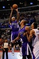 Nov 23, 2013; Los Angeles, CA, USA; Sacramento Kings guard Isaiah Thomas (22) goes up for a shot against the Los Angeles Clippers during the second quarter at Staples Center. Mandatory Credit: Kelvin Kuo-USA TODAY Sports