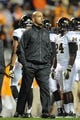 Nov 23, 2013; Knoxville, TN, USA; Vanderbilt Commodores head coach James Franklin before the game against the Tennessee Volunteers at Neyland Stadium. Mandatory Credit: Randy Sartin-USA TODAY Sports