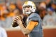 Nov 23, 2013; Knoxville, TN, USA; Tennessee Volunteers quarterback Nathan Peterman (12) warms up before the game against the Vanderbilt Commodores at Neyland Stadium. Mandatory Credit: Randy Sartin-USA TODAY Sports