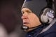 Nov 23, 2013; South Bend, IN, USA; BYU Cougars head coach Bronco Mendenhall watches from the sideline in the third quarter against the Notre Dame Fighting Irish at Notre Dame Stadium. Notre Dame won 23-13. Mandatory Credit: Matt Cashore-USA TODAY Sports
