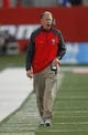 Nov 23, 2013; Fresno, CA, USA; New Mexico Lobos head coach Bob Davie walks down the sideline against the Fresno State Bulldogs in the fourth quarter at Bulldogs Stadium. The Bulldogs defeated the Lobos 69-28. Mandatory Credit: Cary Edmondson-USA TODAY Sports