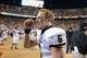 Nov 23, 2013; Knoxville, TN, USA; Vanderbilt Commodores quarterback Austyn Carta-Samuels (6) celebrates after the game against the Tennessee Volunteers at Neyland Stadium. Vanderbilt won 14 to 10. Mandatory Credit: Randy Sartin-USA TODAY Sports