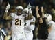 Nov 23, 2013; Pasadena, CA, USA;      Arizona State Sun Devils wide receiver Jaelen Strong (21) celebrates at the end of the game against the UCLA Bruins at the Rose Bowl. Arizona State Sun Devils won 38-33. Mandatory Credit: Jayne Kamin-Oncea-USA TODAY Sports