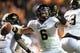 Nov 23, 2013; Knoxville, TN, USA; Vanderbilt Commodores quarterback Austyn Carta-Samuels (6) passes the ball against the Tennessee Volunteers at Neyland Stadium. Vanderbilt won 14 to 10. Mandatory Credit: Randy Sartin-USA TODAY Sports