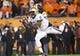 Nov 23, 2013; Corvallis, OR, USA; Washington Huskies wide receiver Kevin Smith (8) makes a reception over Oregon State Beavers cornerback Steven Nelson (2) in the first half at Reser Stadium. Mandatory Credit: Jaime Valdez-USA TODAY Sports