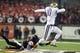 Nov 23, 2013; Corvallis, OR, USA; Oregon State Beavers cornerback Sean Martin (6) tackles Washington Huskies quarterback Cyler Miles (10) in the first half at Reser Stadium. Mandatory Credit: Jaime Valdez-USA TODAY Sports