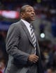 Nov 24, 2013; Los Angeles, CA, USA;  Los Angeles Clippers head coach Doc Rivers during the game against the Chicago Bulls at Staples Center. Clippers won 121-82. Mandatory Credit: Jayne Kamin-Oncea-USA TODAY Sports