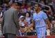Nov 24, 2013; Los Angeles, CA, USA;  Los Angeles Clippers point guard Chris Paul (3) shakes hands with Los Angeles Clippers head coach Doc Rivers after he leaves the game in the fourth quarter at the Staples Center. Clippers won 121-82. Mandatory Credit: Jayne Kamin-Oncea-USA TODAY Sports