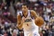 Nov 22, 2013; Philadelphia, PA, USA; Philadelphia 76ers guard Michael Carter-Williams (1) during the fourth quarter against the Milwaukee Bucks at Wells Fargo Center. The Sixers defeated the Bucks 115-107 in overtime. Mandatory Credit: Howard Smith-USA TODAY Sports