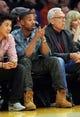 Nov 24, 2013; Los Angeles, CA, USA;  Movie actor Michael Bakari Jordan watches the game between the Los Angeles Lakers the Sacramento Kings at Staples Center. Lakers won 100-86. Mandatory Credit: Jayne Kamin-Oncea-USA TODAY Sports