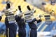Nov 16, 2013; Pittsburgh, PA, USA; Pittsburgh Panthers herald trumpeters perform before the Panthers host the North Carolina Tar Heels at Heinz Field. North Carolina won 34-27.  Mandatory Credit: Charles LeClaire-USA TODAY Sports