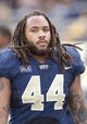 Nov 16, 2013; Pittsburgh, PA, USA; Pittsburgh Panthers linebacker Shane Gordon (44) looks on from the sidelines against the North Carolina Tar Heels during the third quarter at Heinz Field. North Carolina won 34-27. Mandatory Credit: Charles LeClaire-USA TODAY Sports
